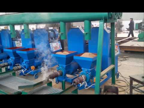 Wood Briquette Processing Line/Barbecue Charcoal Machines