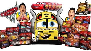 🏰 Disney Cars 3 Toys Worlds Biggest 🚌 Miss Fritter Toy Surprise Egg Video for kids