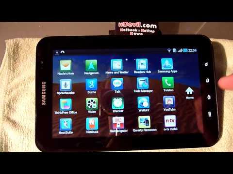 Samsung Galaxy Tab Test - Deutsch