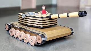 How to Make a RC Battle Tank with Auto load bullets & Shoots