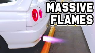 My R34 SKYLINE is now a FLAMETHROWER!🔥🔥