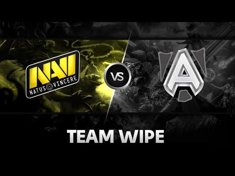 Team wipe by Na'Vi vs Alliance @ StarSeries XI