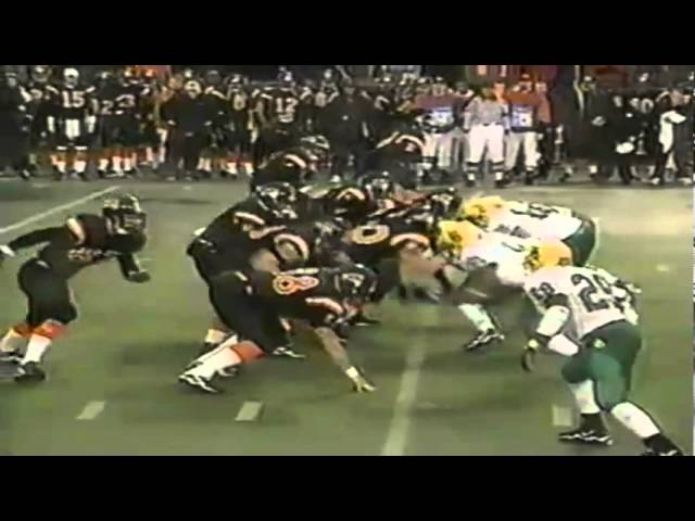Oregon DE anthony Martin tackles OSU RB Ken Simonton for a loss 11-21-1998