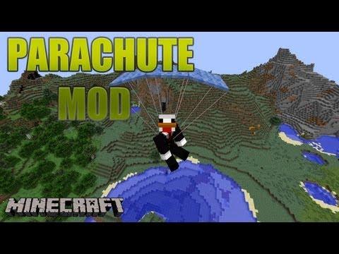 MINECRAFT MOD: PARACHUTE-PARACAÍDAS REVIEW