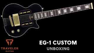 Traveler Guitar EG-1 Custom Black V2 Unboxing