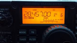 Working a few on 10m, 28MHz portable on a grey drizzly day!