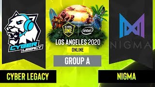 Dota2 - Nigma vs. Cyber Legacy - Game 1 - Group A - EU/CIS - ESL One Los Angeles