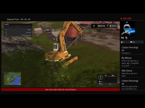 Farming simulator 2017 game play logging