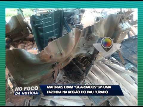 Homem é preso por fazer desmanche de carros na região do Pau Furado