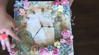 Wild Bunch - Shabby Canvas Clock - Becca