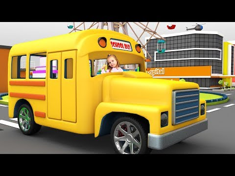 Wheels on the bus round and round song | Funny song for kids | Children Rhyme