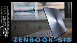 Asus ZenBook S13 (UX392) Unboxing & First Look: The Reverse Notch!