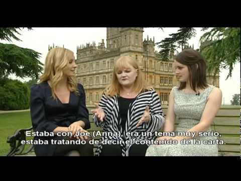 Joanne Froggatt, Lesley Nicol y Sophie McShera entrevista Antena3