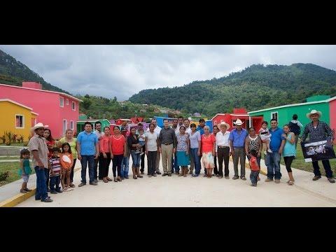 Primera etapa de entrega de viviendas. La Pintada de Atoyac de Álvarez, Guerrero