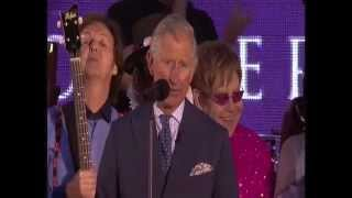 "Prince Charles ""Closing Speech"" Jubilee Concert on BBC"