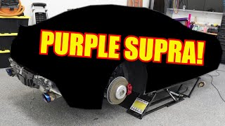 Revealing my new PURPLE Toyota Supra!