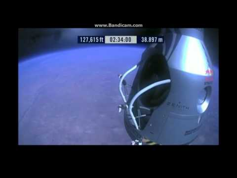 Felix Baumgartner Free Falls 23 Miles for World Record!