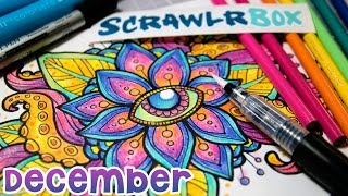 Opening SCRAWLRBOX December - Design a Coloring Page!