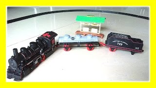 Trains for Children with Train Tracks, Train Crash, Steam Engine, Toy Train by JeannetChannel