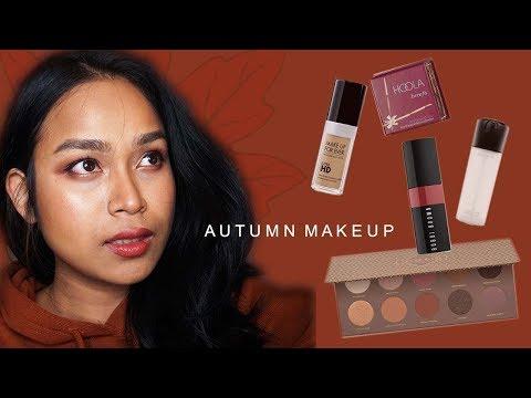 แต่งหน้าสาวผิวแทน โทนสีใบไม้แดง | Autumn makeup | Dokfinn Nata