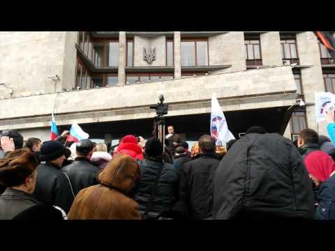 Павел Губарев о сессии ОДА, 3 марта 2014