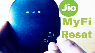 Reliance Jio 4G MyFi device reset