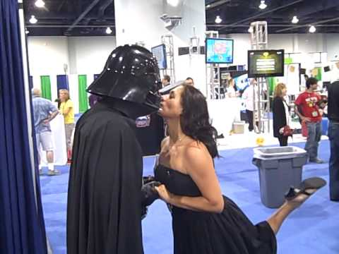 Chad Vader & I Poken at Blogworld 2009