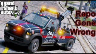 GTA 5 Real Life Mod Tow Truck Repo In The Hood Gone Wrong
