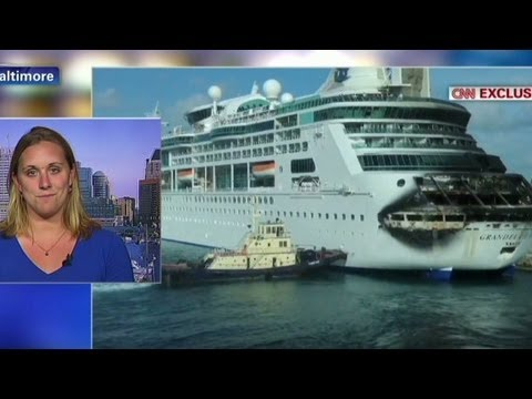 Cruise passenger: Water was glowing from the fire