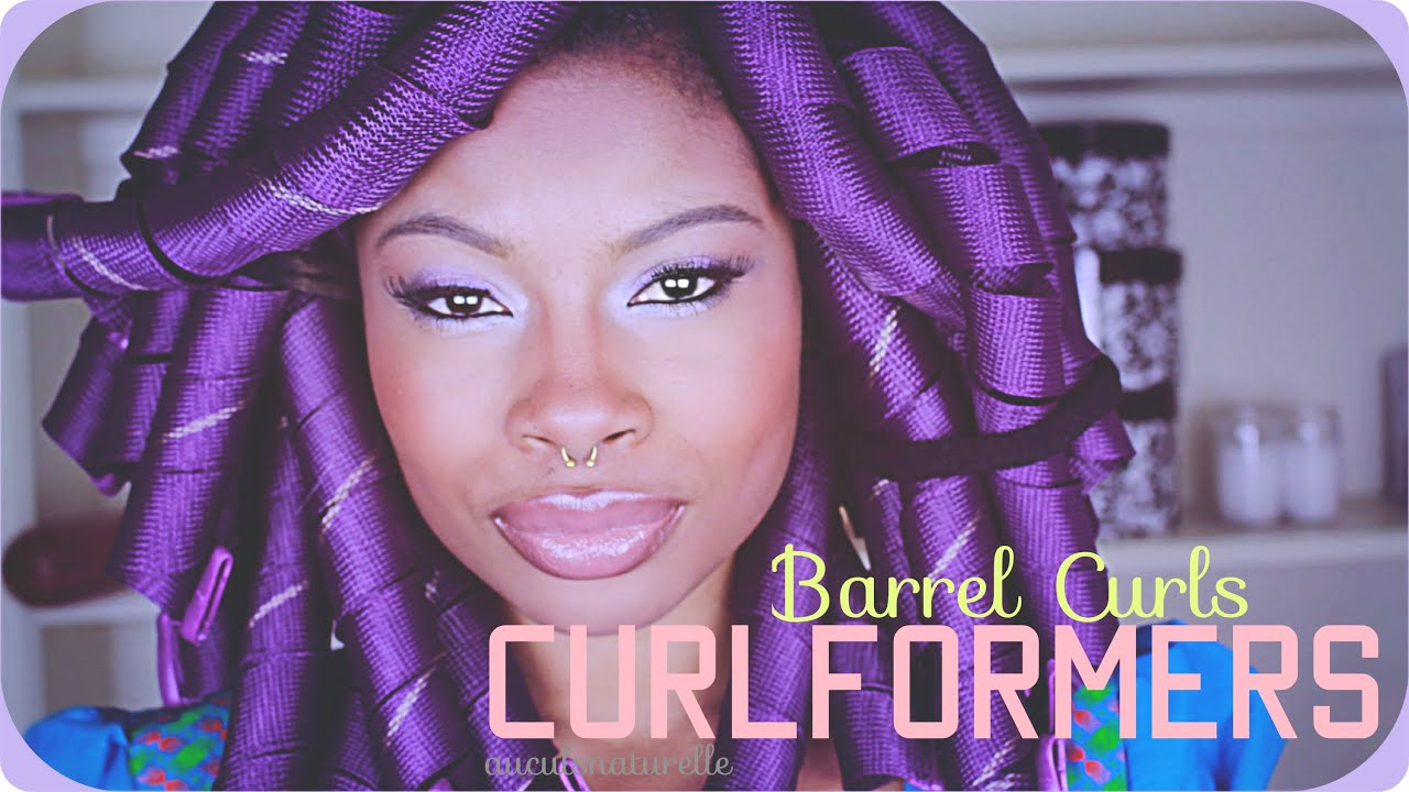 Curlformers Barrel Curls Natural Hair Curlformers| Barrel Curls on