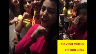 MOST LATEST VIRAL VIDEO OF FOUR GIRLS | 2 VIDEOS | TERA GHATA & YAROON NE BY FOUR GIRLS