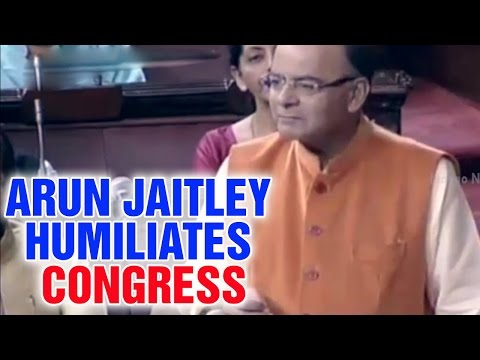 Arun Jaitley humiliates Congress Party and Ghulam Nabi Azad quoting J&K history