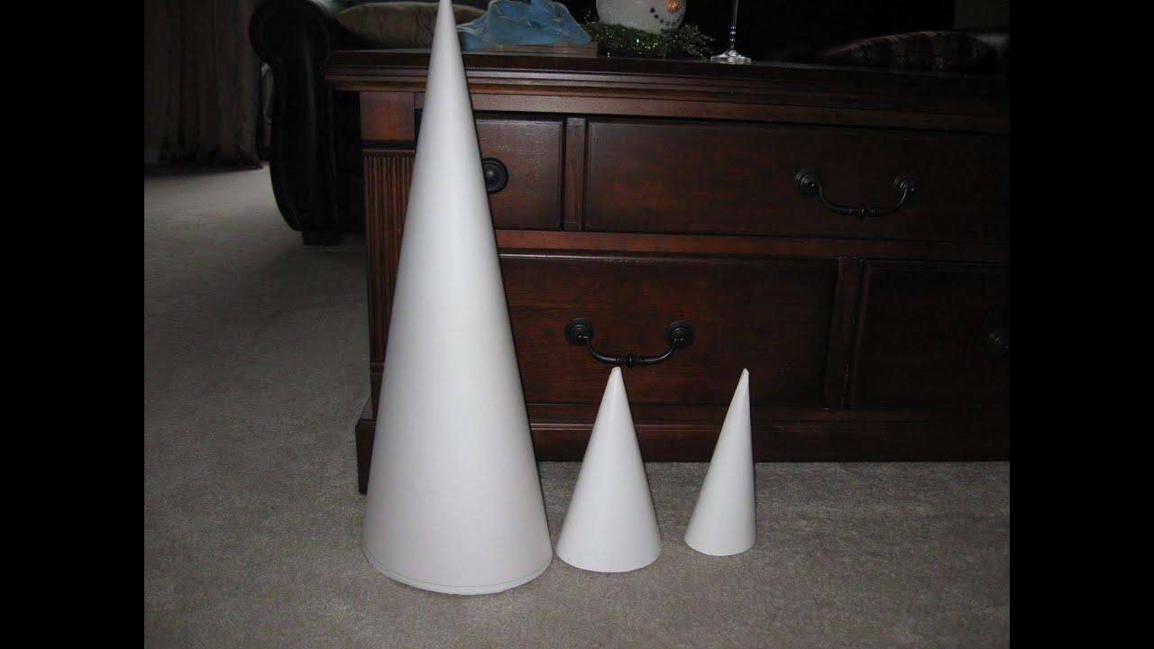 How to make a really big cone craft tutorial youtube for Cardboard cones for crafts