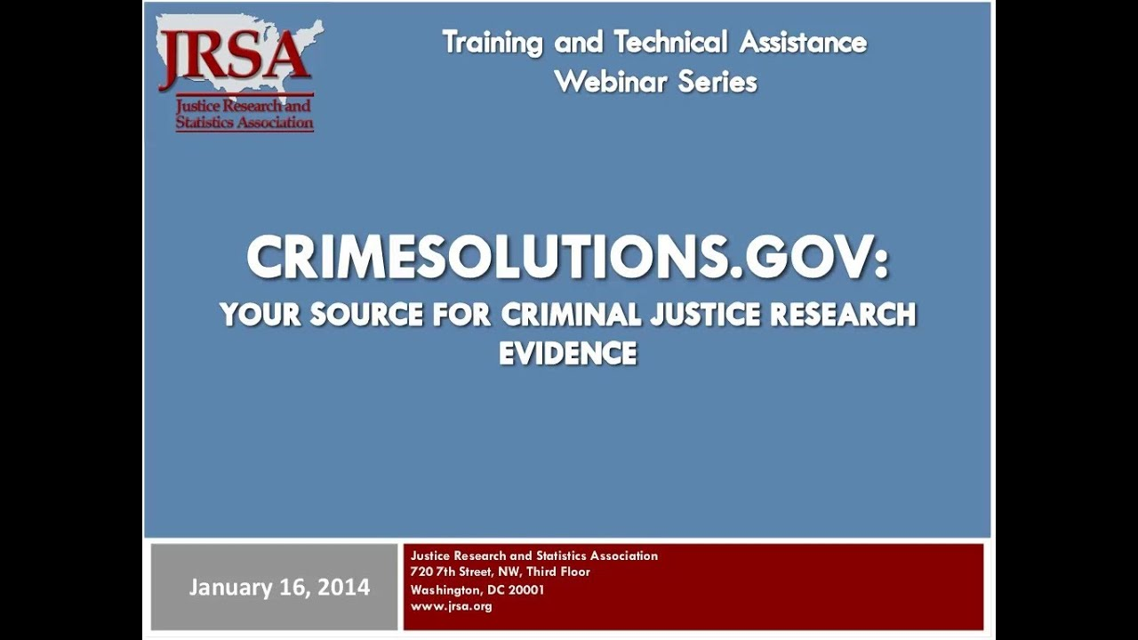 crime and justice research paper series