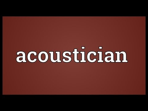 Header of acoustician