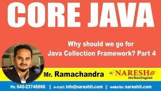 Core Java Tutorial | Why should we go for Java Collection Framework?  Part 4 | Mr.Ramchander