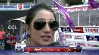 Sayantika Banerjee at Match Centre- CCL6 || Karnataka Bulldozers VS Bengal Tigers
