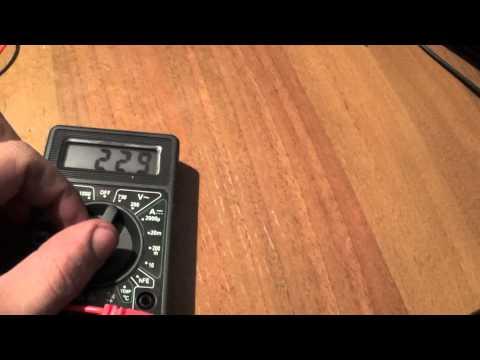 Видео как проверить температуру мультиметром