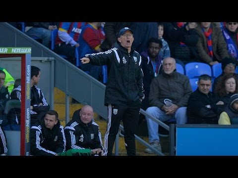 Tony Pulis is interviewed after Albion's 2-0 win at Crystal Palace