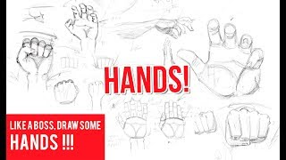 How to Draw HANDS and Construct HANDS from Scratch!