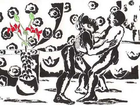 homosexuales beso gay besarse dibujos de arte joven