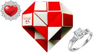Rubik's Twist Heart 3D | Snake Puzzle Diamond