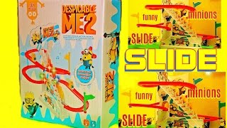 MINIONS Slide MINION Rutschbahn DESPICABLE ME2 funny new TOY unBOXing cool Lucky Bag Kinder Rutsche
