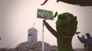 Basketball on the highest mountain in Slovenia (Triglav - 2864 m)