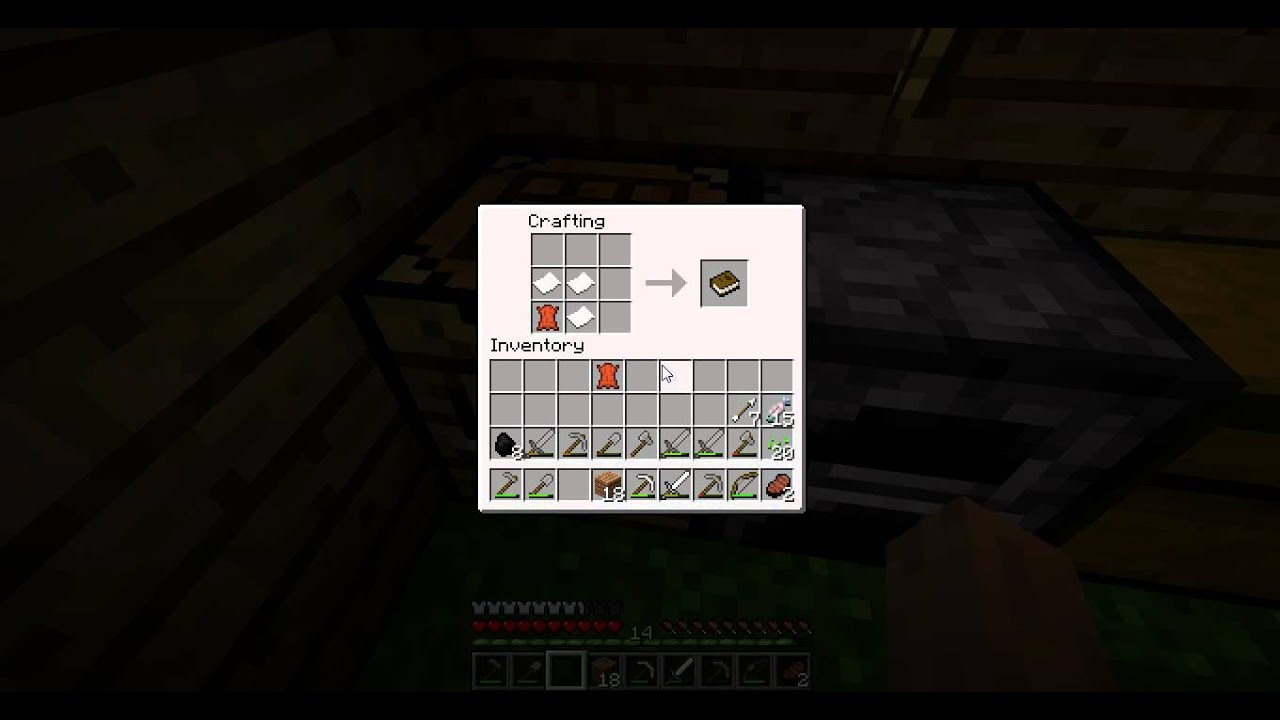 Minecraft 1.3.1 how to craft a book (new) - YouTube