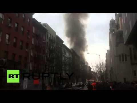 East Village Explosion: FDNY fights to put out blaze in NYC