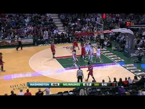 NBA Washington Wizards vs Milwaukee Bucks 12/30/11 Game Recap