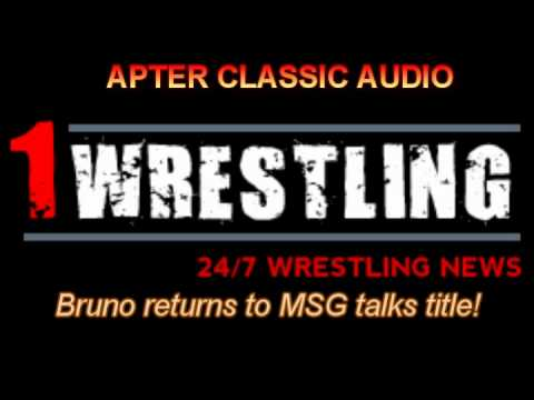Apter Classic Audio--bruno Returns To Msg Talks About Family & Morales video