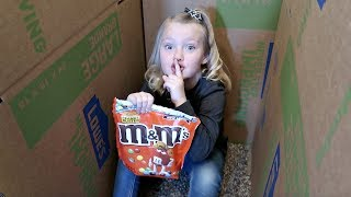 M&M GAME IN A BOX FORT MAZE!