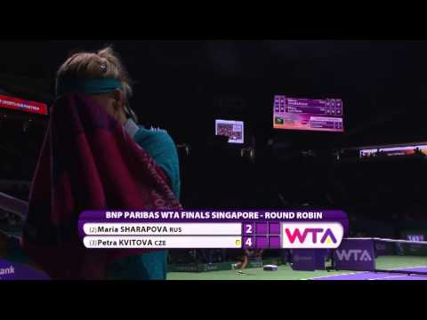 Petra Kvitova vs Maria Sharapova | 2014 WTA Finals Highlights